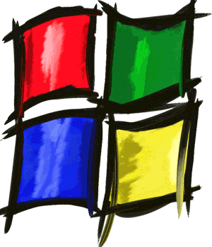 Painted Microsoft Logo