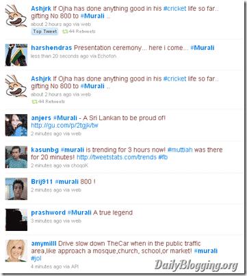 Murali on Twitter Trends