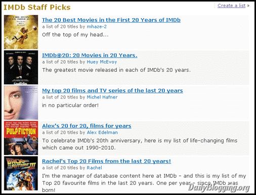 IMDb-top20-lists