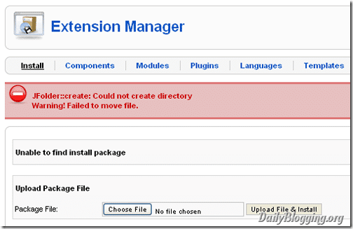 Could_not_create_directory_joomla_error