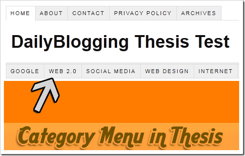 Category Menu Thesis