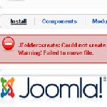 Failed to move file Joomla Error