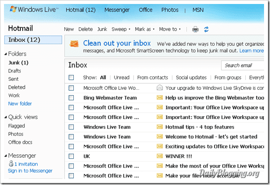 hotmail_empty_inboxes_folders