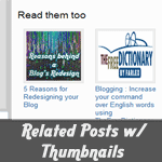 Related Posts with Thumbnails in Thesis Theme