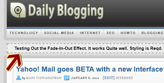 WP Fade In Text News Plugin