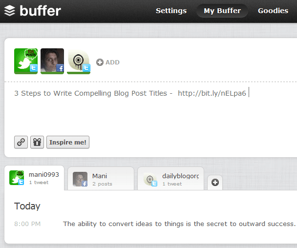 Buffer Facebook Updates