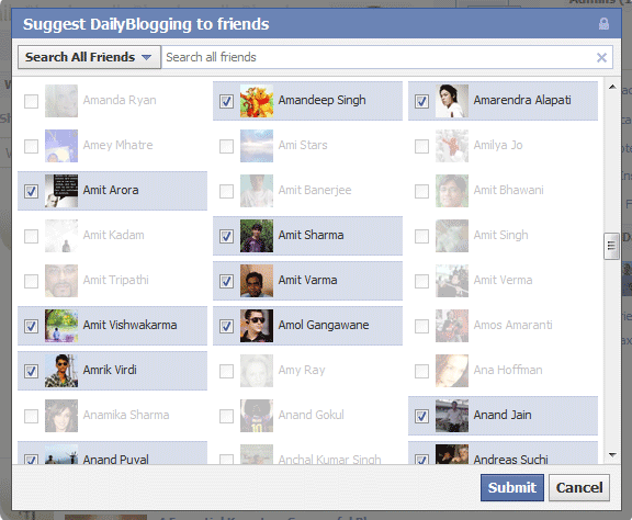Select All Friends on Facebook