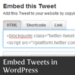 Embed Tweets in WordPress