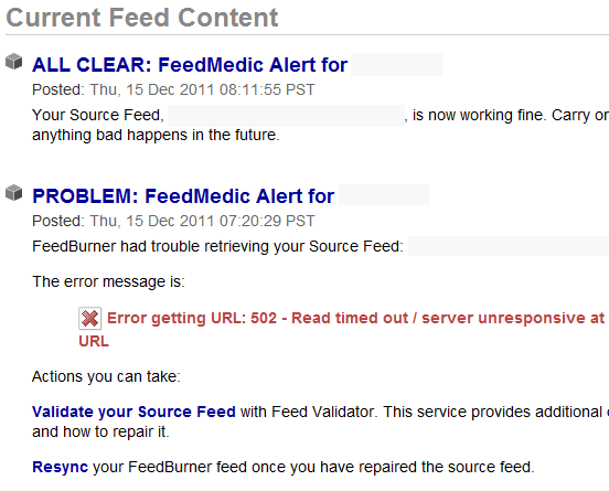 FeedMedic and FeedBulletin