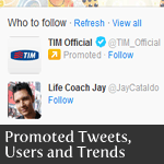 Promoted Twitter user