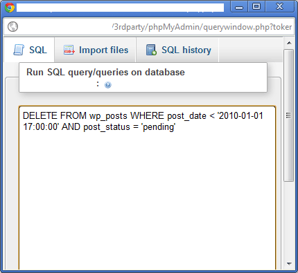 SQL Query Window