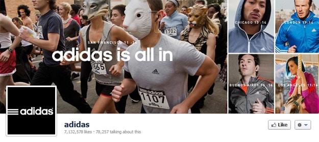 Adidas Facebook Page