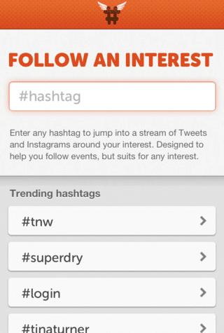Hashtag App
