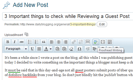 Reviewing Guest Posts